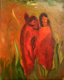 Secret date (40x60 paper,oil-colors)  (private ownership)