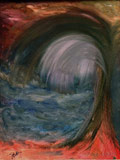 The power of creation (50x70 paper,oil-colors)(private ownership)
