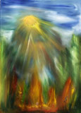 Solar flare (50x70 canvas, oil-colors) (private ownership)