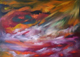 Passion of photons (70x50 canvas, oil-colors private ownership)