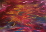 Solar flare (70x50 canvas, oil-colors, private ownership)