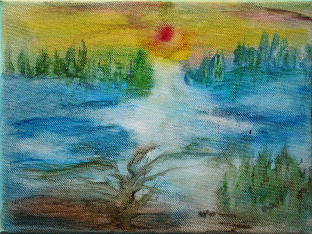 River of Innocence 1. (24x18 canvas, aquarelle)